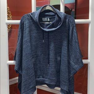 ATHLETA SMALL cape hoodie FALL SOFT COZY BLUE